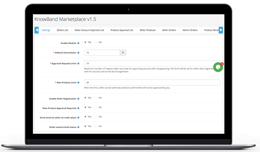 Knowband-OpenCart-Marketplace-General-Settings