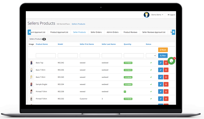 Knowband-OpenCart-Marketplace-Seller-Products