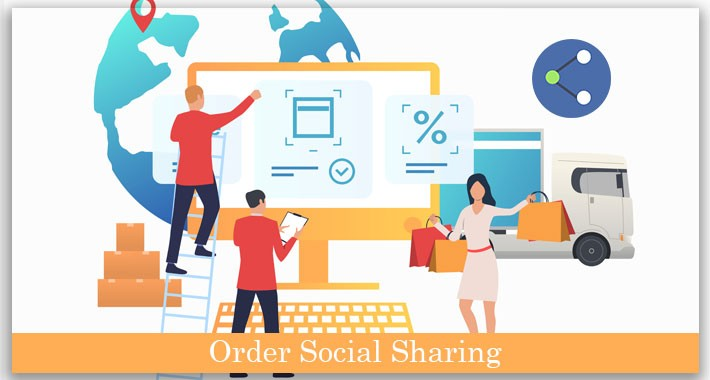 Opencart social order sharing extension