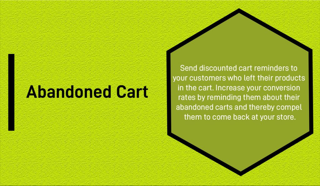 Abandoned Cart module