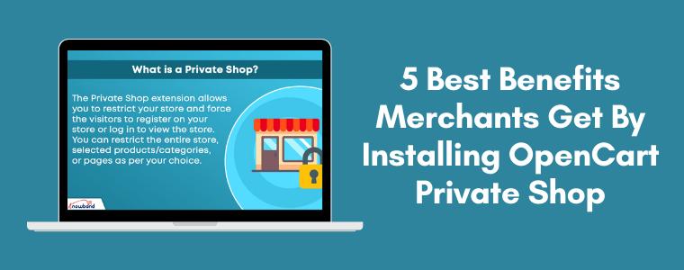5 best benefits merchants get by installing OpenCart Private Shop