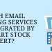 Which email marketing services are integrated by Opencart stock alert