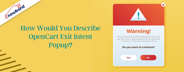 How would you describe OpenCart Exit Intent Popup?
